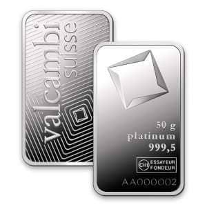 Valcambi Platinum Bars