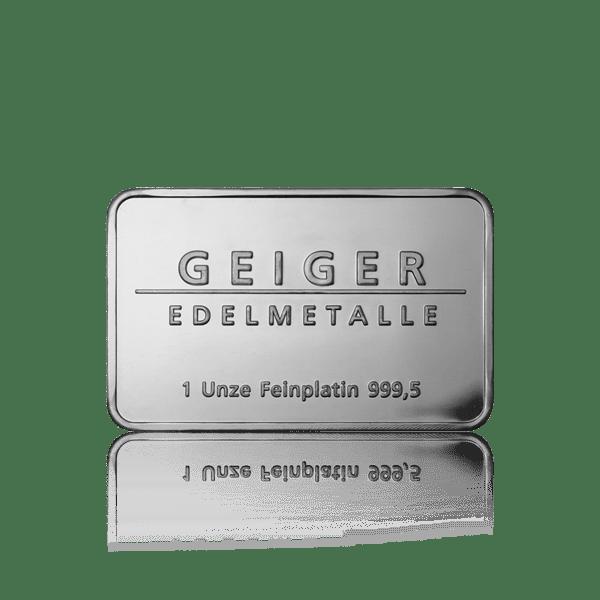 Geiger Edelmetalle Platinum Bars