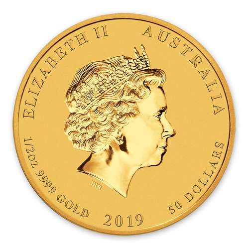 2019 1/2oz  Australian Perth Mint Gold Lunar Year of the Pig