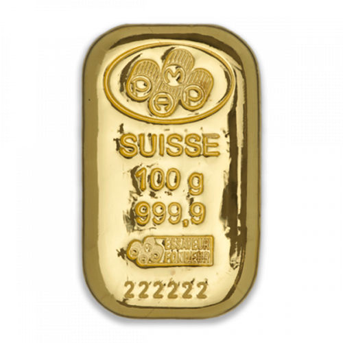 100g PAMP Gold Bar - Cast