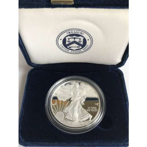 2011 w 1oz Silver Eagle  Proof - with Original Govt Packaging
