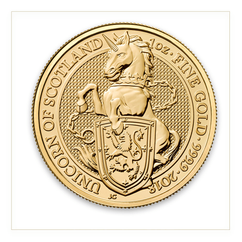 2018 1oz Britain Queen's Beast: The Unicorn