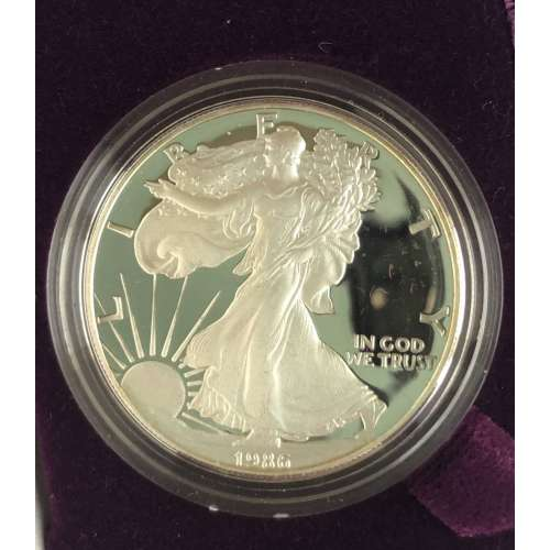 1986 S 1oz Silver Eagle  Proof - with Original Govt Packaging