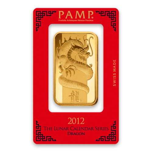 100g PAMP Gold Bar - Lunar Dragon