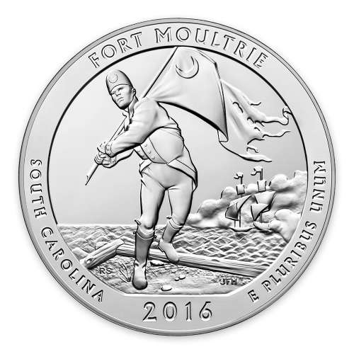 2016 5 oz Silver  America the Beautiful Fort Moultrie