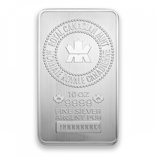 10oz Royal Canadian Mint (RCM) Silver Bar