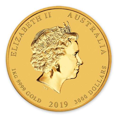 2019 1kg Australian Perth Mint Gold Lunar: Year of the Pig