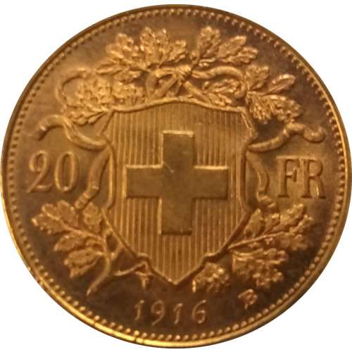 SWITZERLAND Gold 20 FRANCS
