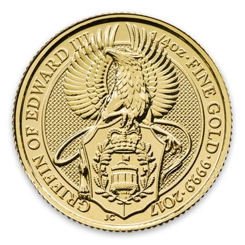2017 1/4oz Gold Britain Queen's Beasts: The Griffin