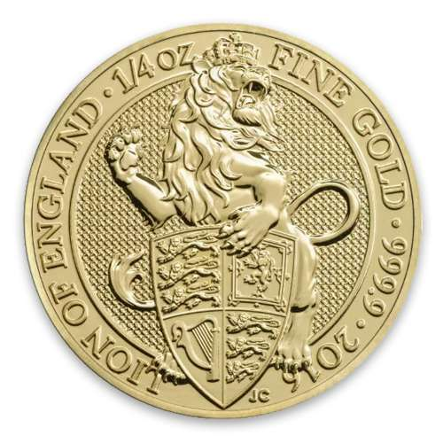 2016 1/4oz Britain Queen's Beasts: The Lion