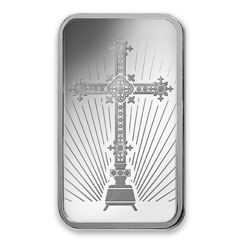 10g PAMP Silver Bar - Romanesque Cross