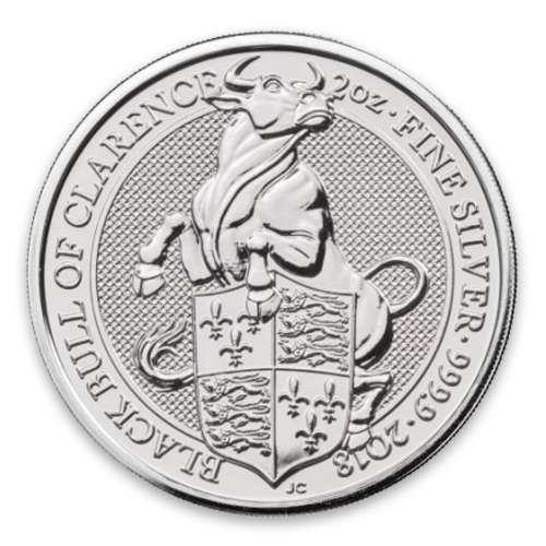 2018 2oz Britain Queen's Beast: The Black Bull of Clearence