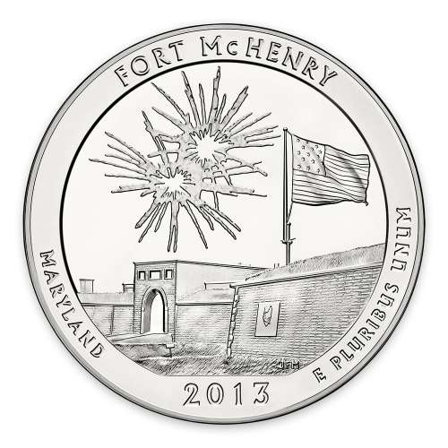 2013 5 oz Silver America the Beautiful Fort McHenry National Park