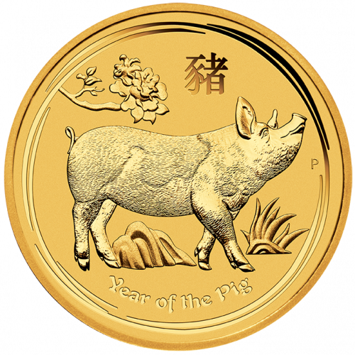 2019 1oz Australian Perth Mint Year of the Boar AU Coin