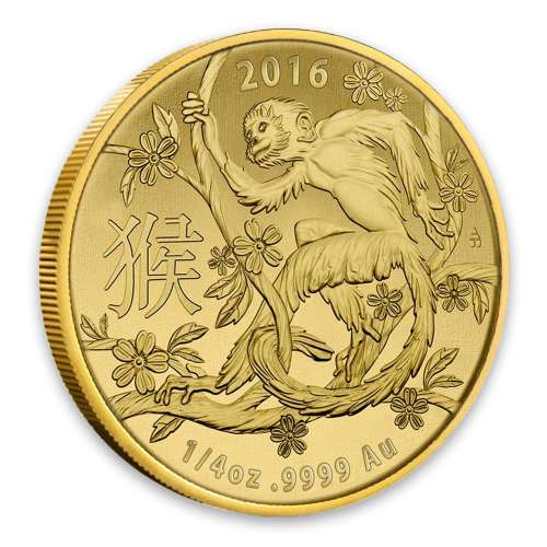 2016 Royal Australian Mint 1/4oz Year of the Monkey