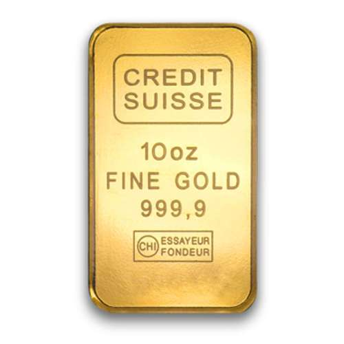 10oz Credit Suisse Gold Bullion Bar