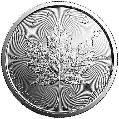 2019 1oz Canadian Platinum Maple Leaf