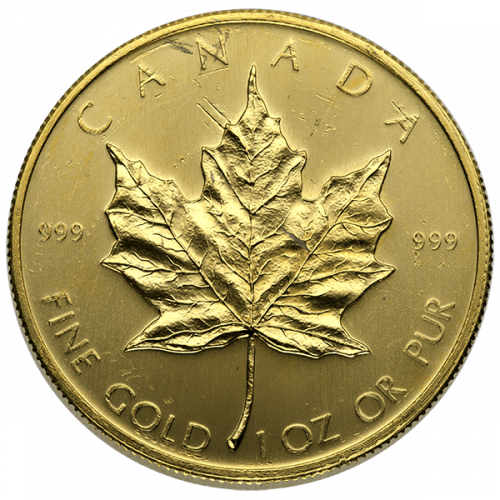 1oz Canadian Gold Maple Leaf - Scruffy
