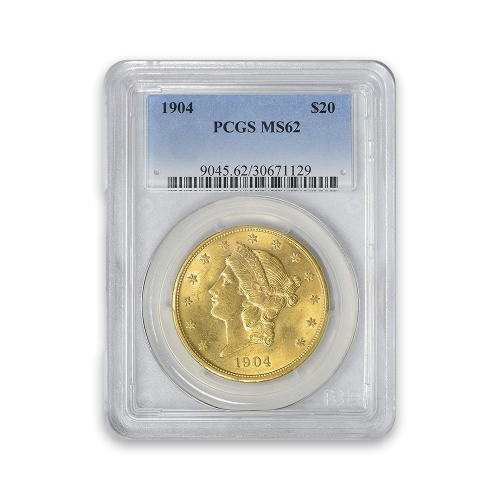 Liberty Head $20 (1849 - 1907) - PCGS - MS62