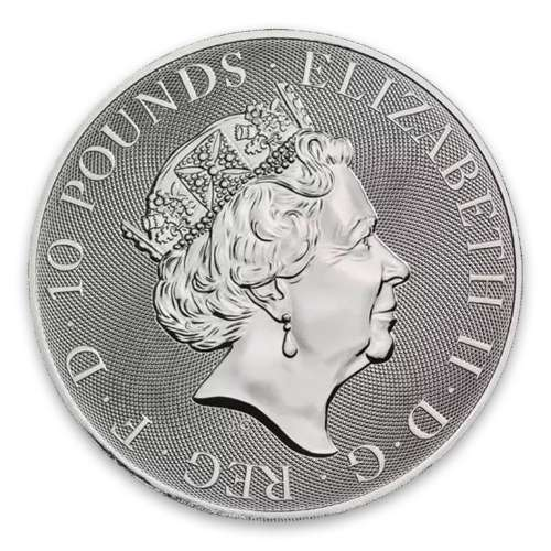 2018 10oz Britain Silver Queen's Beast : The Griffin of Edward