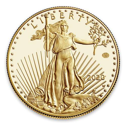 2020 1oz American Gold Eagle End of WWII 75th Anniversary Proof Coin