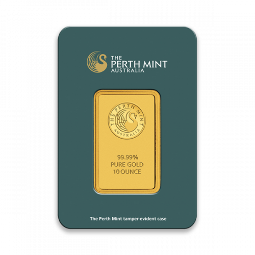 10oz Australian Perth Mint Gold bar - Minted