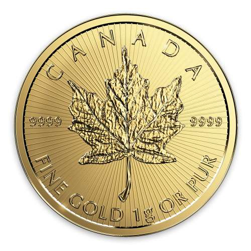 Any Year 1g Canadian Maple Leaf