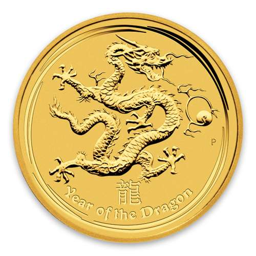 2012 1kg Australian Perth Mint Gold Lunar II: Year of the Dragon