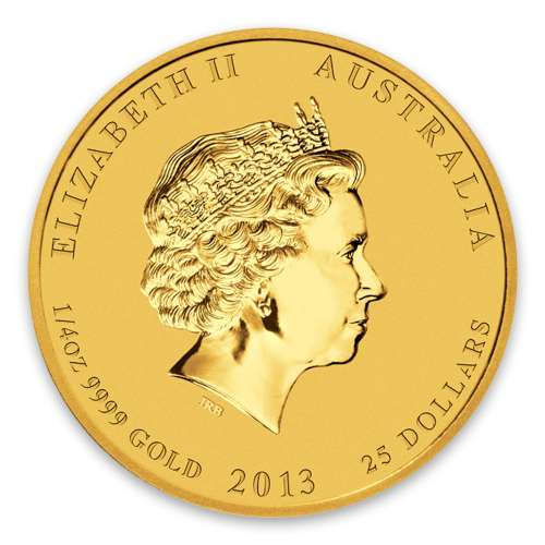 2013 1/4oz Australian Perth Mint Gold Lunar II: Year of the Snake