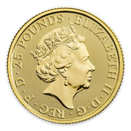 2019 1/4oz Britain Queen's Beast: The Yale of Beaufort