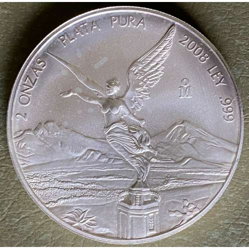 Any Year 2oz Mexican Silver Onza Libertad